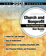 Zondervan Church and Nonprofit Tax and Financial Guide For Tax Returns by Dan Busby CPA