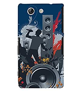PrintVisa Music Modern Art 3D Hard Polycarbonate Designer Back Case Cover for Sony Xperia Z4 Mini :: Compact