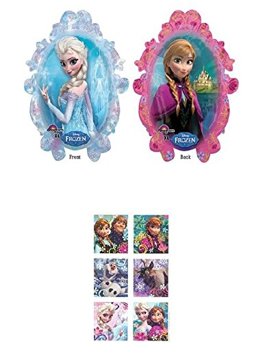 Cheap Disney Frozen Anna Elsa 38 Balloon Birthday Party Decoration Princess Pack of 2 Plus 1 Sheet ...