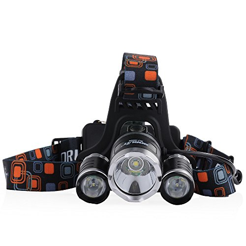 Cymas Headlamp, 5000 Lumens LED Headlight Head Flashlight Waterproof USB Rechargeable for Camping (Light To Wear On Your Head compare prices)