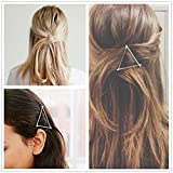 ANGELANGELA HOT Minimalist Gold Silver Hollow Triangle Geometric Metal Hairpin Hair Clip Clamps Accessories Barrette Bobby Pin Ponytail Holder Statement Women's GIFT Headwear Headdress Styling Jewelry