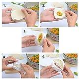 3pcs 3 sizes AmyTalk Plastic Press Ravioli Dough Pastry Pie Dumpling Maker Gyoza Empanada Mold Mould Tool (White)