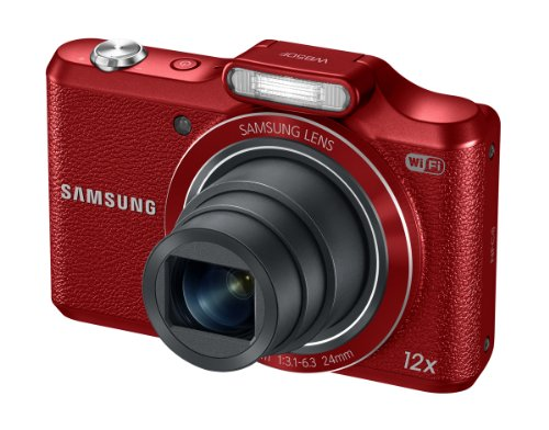 "Samsung WB50F 16.2MP Smart WiFi & NFC Digital Camera with 12x Optical Zoom and 3.0"" LCD (Red)"