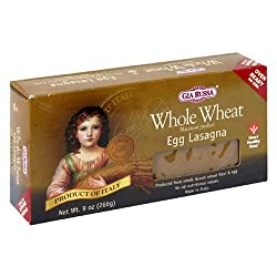 Gia Russa Whole Wheat Egg Lasagna, 9-Ounce Boxes (Pack of 12)