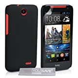 Yousave Accessories Hard Hybrid Cover Case for HTC Desire 310 - Black