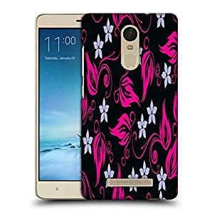 Snoogg Grey Pattern Pink Printed Protective Phone Back Case Cover For Xiaomi Redmi Note 3
