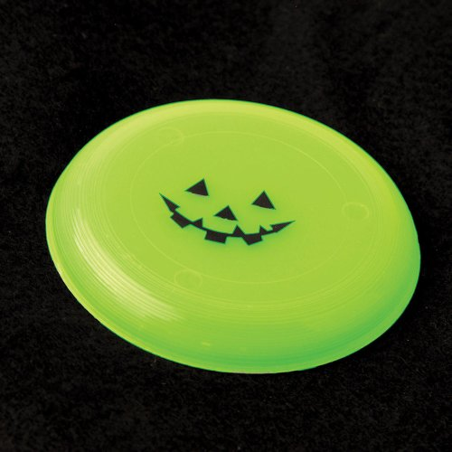 "Shindigz - Jack O Lantern Mini Flying Disc Saucers-3.75"" Dozen, Glow in Dark"