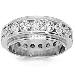 Platinum Mens Diamond Eternity Band 7.75 Ctw - 12