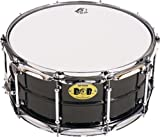 Pork Pie Snare Drum Black Nickle Plated Snare Drum with Chrome Tube Lugs