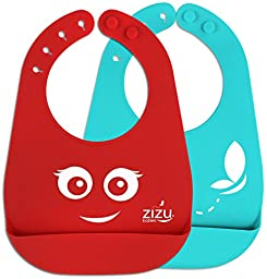 Best Baby Bibs with Adjustable Snaps- Waterproof - Easily Wipes Clean - Fun Unisex - Burp & Drooling Clothes - Perfect Gift for Babies & Toddlers - BPA Free Silicone & FDA