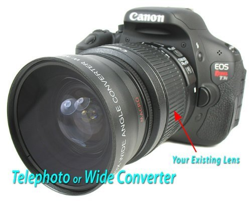 Vivitar Telephoto/Wide-Angle Twin Lens Set With Macro For Canon Eos Dslr And 18-55Mm Kit Lens