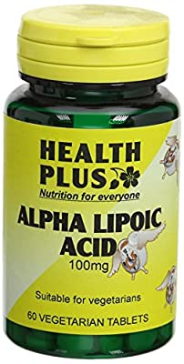 Health Plus Alpha Lipoic Acid 100mg Antioxidant Supplement - 60 Tablets