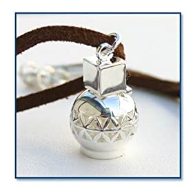 Aromatherapy Sterling Silver Pendant on sterling silver chain