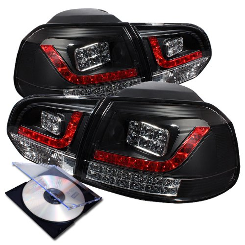 Rxmotor 2010 2011 2012 Vw Golf Gti Led Tail Lights Rear Brake Signal Lamps + Install Guide