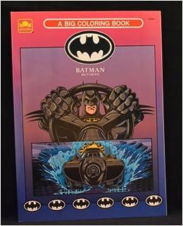 Batman Returns A Big Coloring Book Golden Books