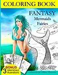 COLORING BOOK Fantasy Mermaids & Fair...