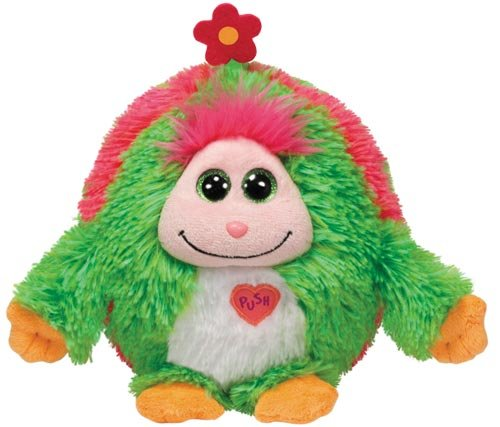 Ty Daisy - Green W/flower Medium Beanie Ballz