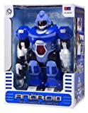 Super Android Robot Toy for Kids with Space Blaster, Grip Claw Hand, Lights & Sound