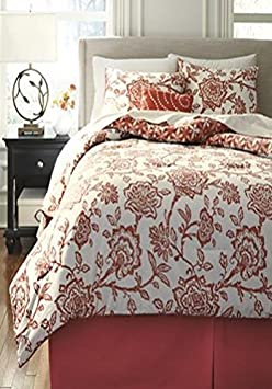 Signature Design by Ashley Ochreske Bedding Set, King, Tangerine