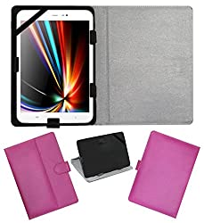 ACM LEATHER FLIP FLAP TABLET HOLDER CARRY CASE STAND COVER FOR IBERRY AUXUS CORE X8 PINK