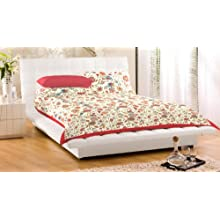 """Bed Cover With Pillow Cover Floral 90X108"""" Double Bed Spread Double 100% Cotton"""