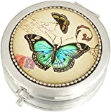 Danielle Creations Compact, Butterfly Design 7 cm