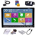 PUPUG 7 inch 2 Din TFT Screen In-dash Car DVD Player + Car Rear View Camera with Night Vision + Sd GPS Map Card FM AM USB PC Stereo Radio