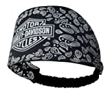 Harley-Davidson Womens Scrunchie Bar & Shield Paisley Black Headband HE108130