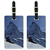 Matterhorn Swiss Alps Mountain Climbing Luggage Tags Suitcase ID Set of 2