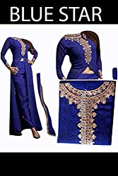 Shree Fashion Woman's Bhagalpuri With Dupatta [Shree (82)_Blue]
