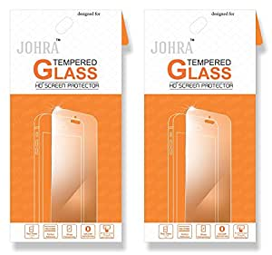 Johra For Samsung Galaxy A9 (2016 Edition) Tempered Glass, Real HD+Tempered Glass For Samsung A9 Tempered Glass - Pack of 2