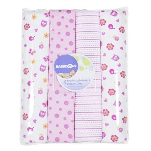 Koala Baby Owl 4pack Flannel Blanket - 1