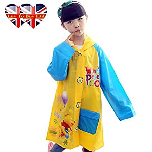 Winnie The Pooh Raincoat/,Children Raincoat , Waterproof.(4 Sizes : S , M , L , XL)