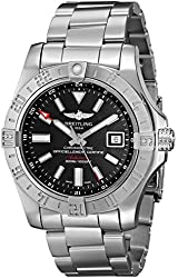 Breitling Men's BTA3239011-BC35SS Avenger II GMT Analog Display Swiss Automatic Silver Watch