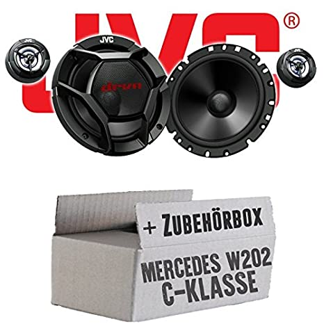 Mercedes C-Klasse W202 Front - JVC CS-DR1700C - 16cm 2-Wege Lautsprecher System - Einbauset