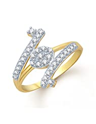 Meenaz Marvellous Gold And Rhodium Plated Cz Ring FR107 For Women