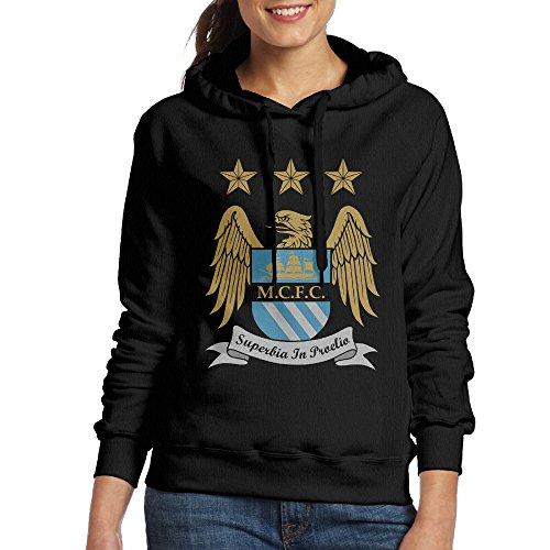 UFBDJF20 Manchester City Football Club 1 Hoodied For Women M Black