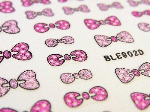 3Dネイルシール キュートリボン ピンク&ベビーピンク