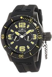Invicta Men's 1796 Specialty Black Dial Black Polyurethane Strap Watch