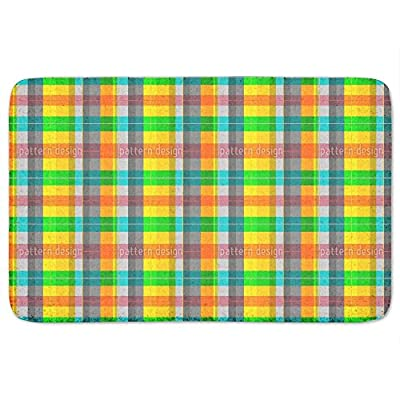 Colorful Checkered Bathroom Rugs Incrediby Soft Memory Foam Spa Quality