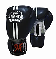 Ring Fight Pro Boxing gloves(Black)