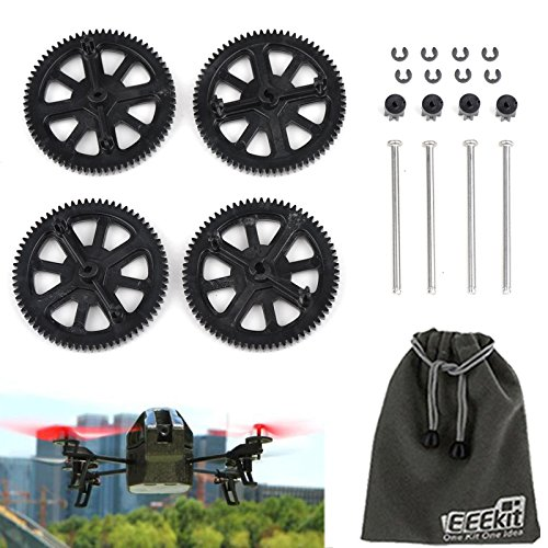 Eeekit Gears Kit For Parrot Ar Drone 2.0 Quadcopter, Spare Parts Motor Pinion Gear Gears & Shaft Replacement Set