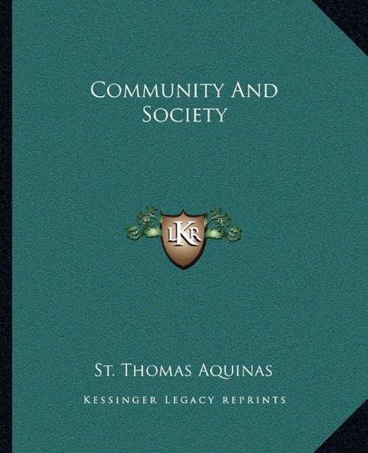 Community and Society