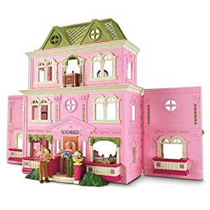 fisher price loving family grand dollhouse with bonus accessories toys games. Black Bedroom Furniture Sets. Home Design Ideas
