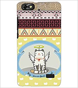 Printdhaba Angel Cat D-4625 Back Case Cover For Huawei Honor 4C