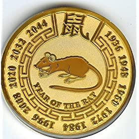 Gold Year of the Rat Coin