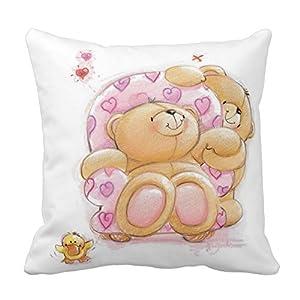 Amazon.com - Cute Kids Bear Pillow Standard Size 20 X 20 Design Pillow Case Cover For Sofa