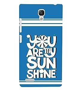 printtech Sun Shine Back Case Cover for Xiaomi Redmi Note::Xiaomi Redmi Note 4G