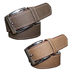 Winsome Deal Combo of Brown and Tan Artificial leather Belts at wholesale Price