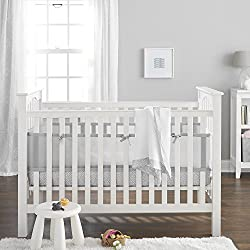 BreathableBaby 3 Piece Core Bedding Set, Gray